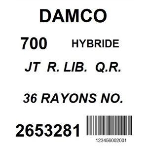 ROUE ARRIERE 700 DAMCO NOIR DOUBLE PAROI ROUE LIBRE QR