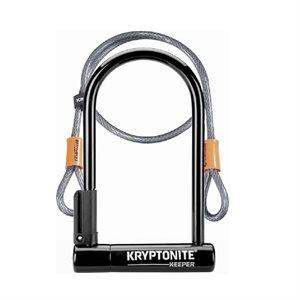 KRYPTONITE KEEPER STD U LOCK W / 4 FLEX CABLE